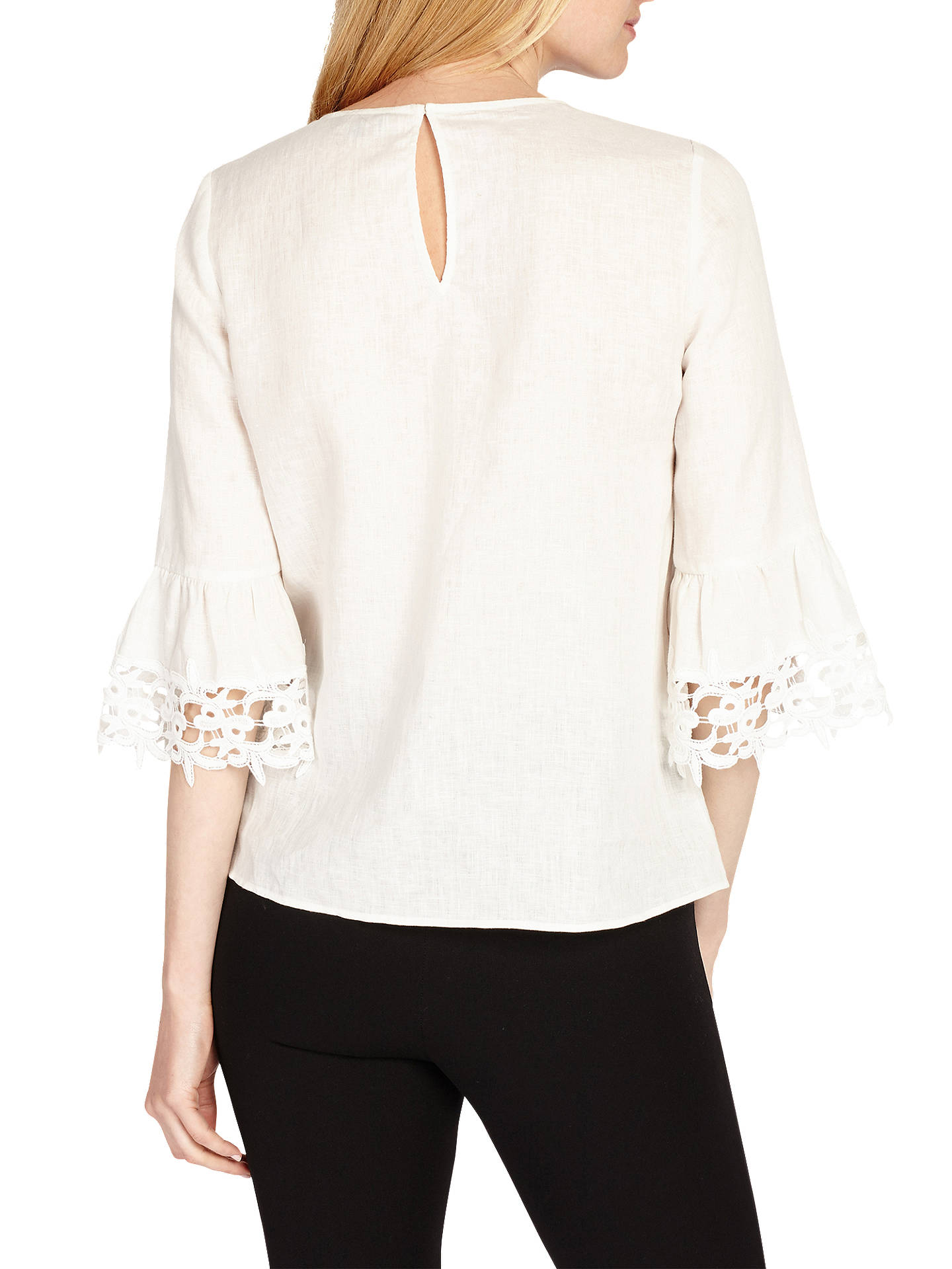 0e38b3316e8 ... Buy Phase Eight Tabbie Lace Cuff Blouse, Ivory, 8 Online at  johnlewis.com ...