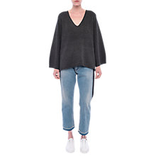 Buy French Connection Urban Floss V Neck Jumper, Ink Grey Online at johnlewis.com