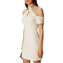 Buy Karen Millen Jewel Collar Dress, Nude Online at johnlewis.com