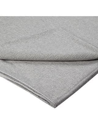 Croft Collection Euan Brushed Cotton Flat Sheet, Slate