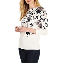 Buy Phase Eight Alexandria Print Top, Pale Pink/Black Online at johnlewis.com
