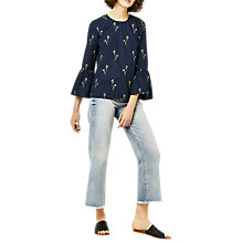 Buy Warehouse Iris Embroidered Top Online at johnlewis.com