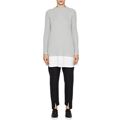 Image of French Connection Ila Long Sleeve Jumper, Light Grey Mel