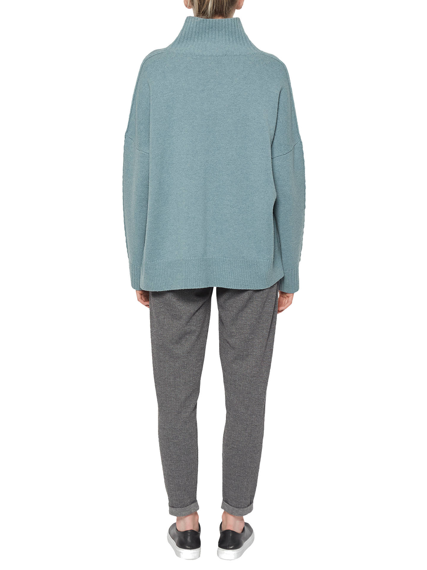 BuyFrench Connection Reba High Neck Jumper, Arona Blue, XS Online at johnlewis.com
