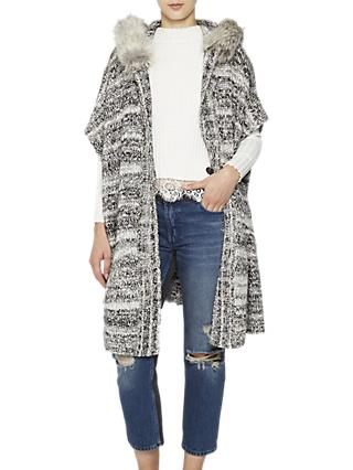 French Connection Irma Long Sleeved Cardigan, Multi