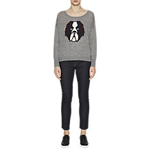 Buy French Connection Otis Knitted Crew Neck Jumper, Mid Grey Mel Online at johnlewis.com