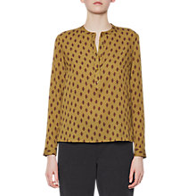 Buy French Connection Elise Crepe Collarless Blouse, Willow/Multi Online at johnlewis.com