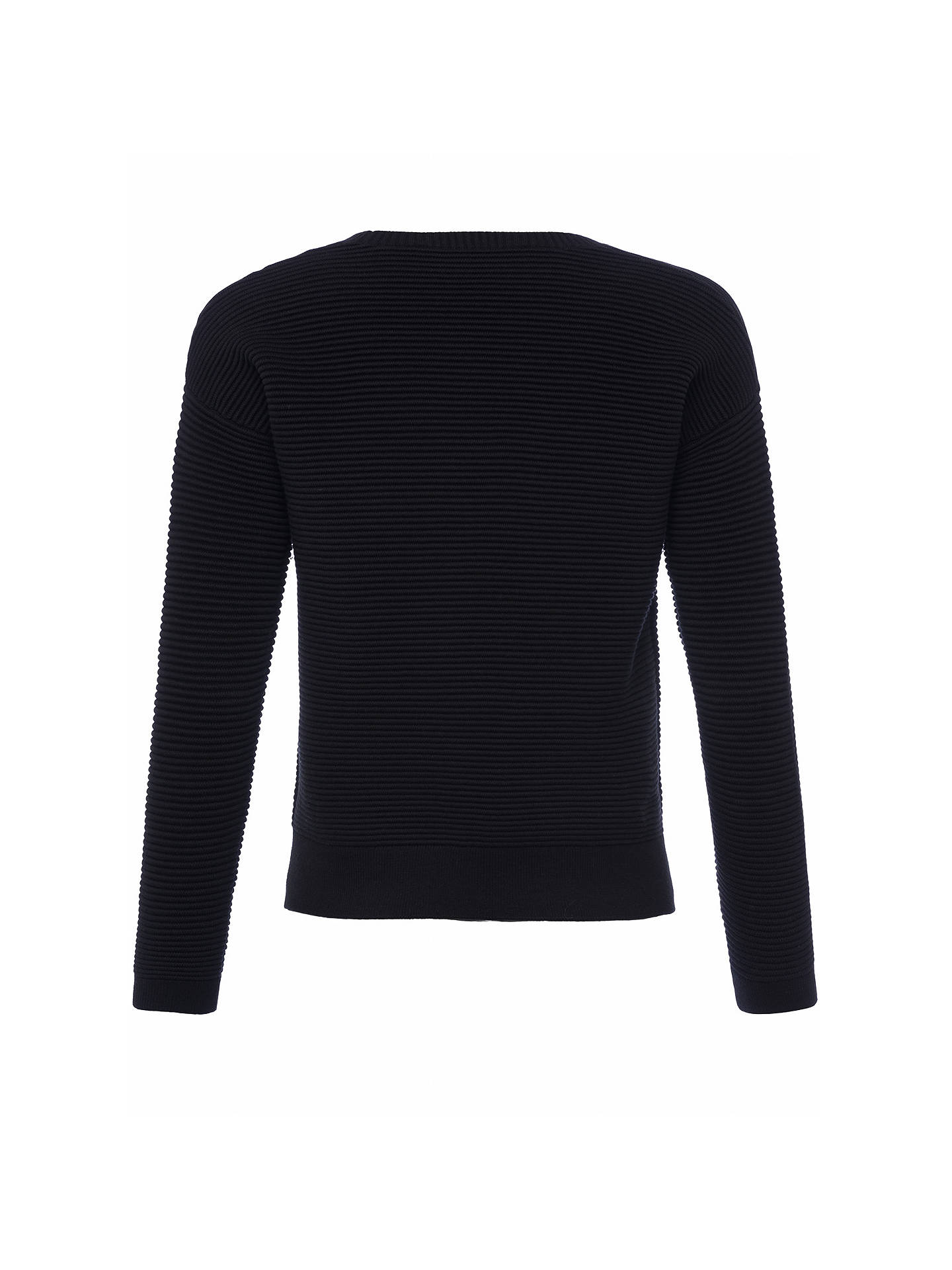 BuyFrench Connection Sunday Mozart Scoop Neck Jumper, Black, XS Online at johnlewis.com