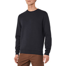 Buy Reiss Gerry Stitch Quilt Sweatshirt, Navy Online at johnlewis.com