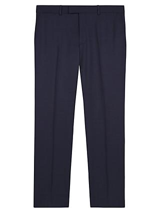 Jaeger Wool Birdseye Regular Fit Suit Trousers, Navy