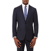 Buy Jaeger Wool Grid Check Regular Fit Jacket, Midnight Online at johnlewis.com