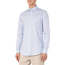 Buy Reiss Osvaldo Stripe Slim Fit Shirt, Sky Blue Online at johnlewis.com