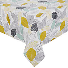 Buy John Lewis Scandi Leaves Wipe Clean Tablecloth, Multi Online at johnlewis.com