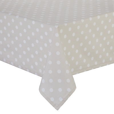 John Lewis & Partners Polka Dot Wipeable Tablecloth