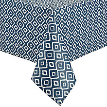 Buy John Lewis Nazca Wipe Clean Tablecloth, Blue, L250 x W140cm Online at johnlewis.com