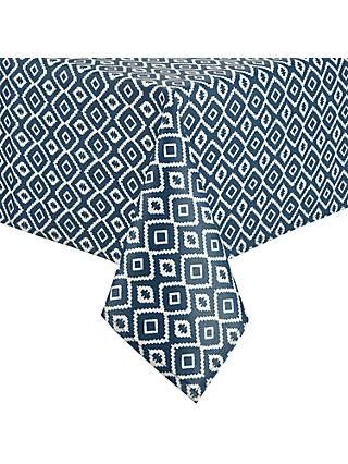 John Lewis & Partners Nazca Wipeable Tablecloth, Blue