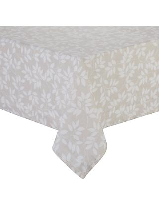 John Lewis U0026 Partners Trailing Leaves Wipe Clean Tablecloth, Neutral