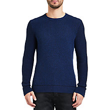 Buy BOSS Orange Kindpaul Jumper, Medium Blue Online at johnlewis.com