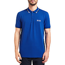 Buy BOSS Green Paddy Pro Polo Shirt, Medium Blue Online at johnlewis.com
