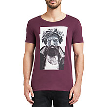 Buy BOSS Orange Taxable T-Shirt, Open Red Online at johnlewis.com
