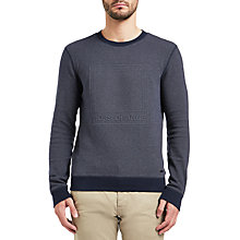 Buy BOSS Orange Wack Jumper, Dark Blue Online at johnlewis.com