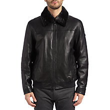 Buy BOSS Green Jylot Jacket, Black Online at johnlewis.com
