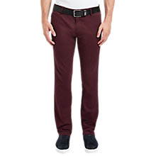 Buy BOSS Orange Schino Slim Trousers, Open Red Online at johnlewis.com