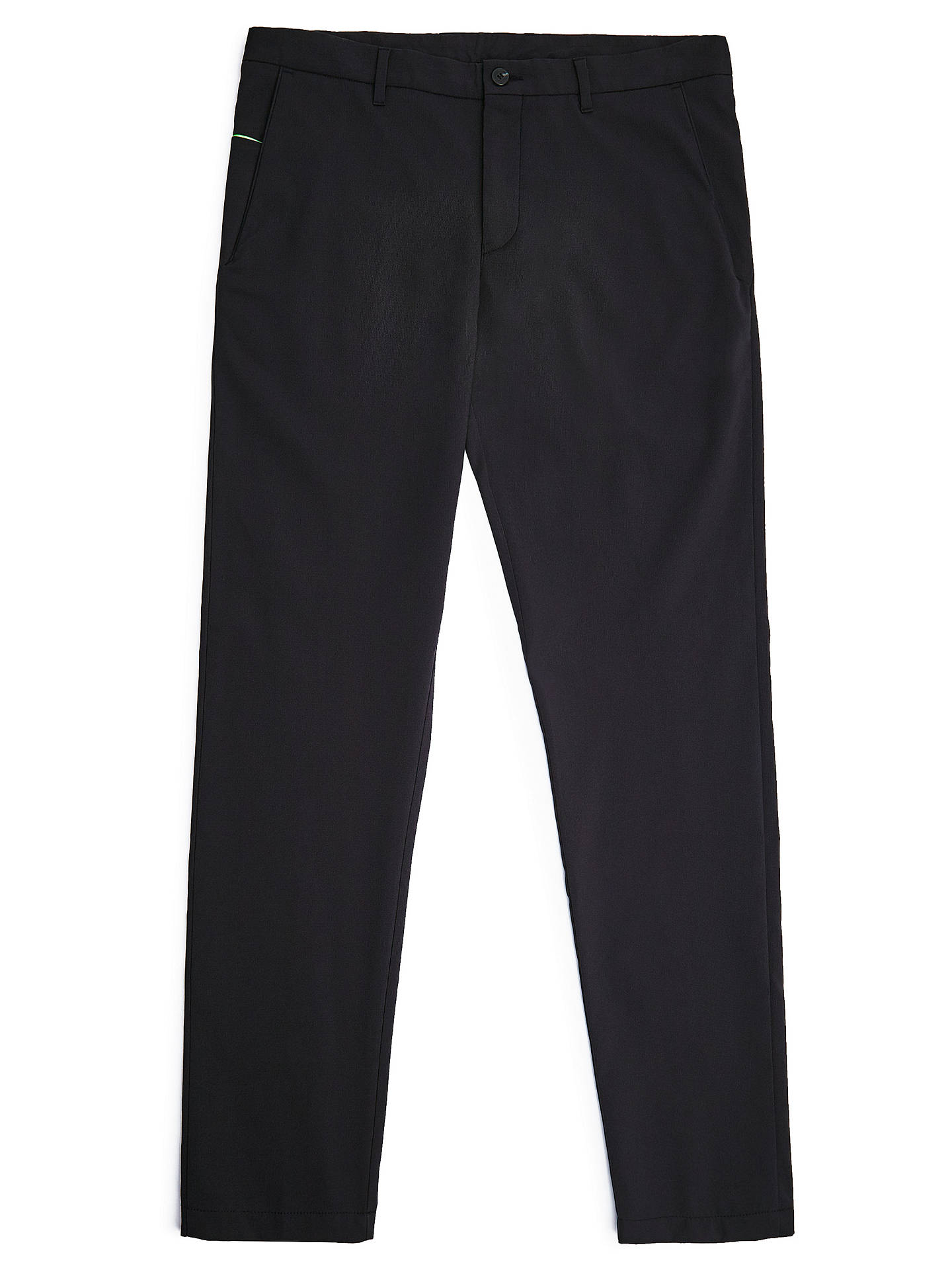 Buy BOSS Hapron Trousers, Black, 36R Online at johnlewis.com