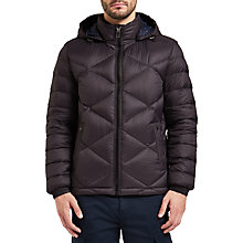 Buy BOSS Orange Obraon Quilted Jacket, Black Online at johnlewis.com