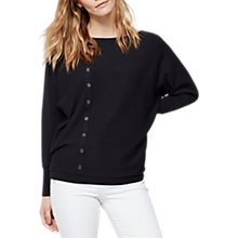 Buy Mint Velvet Asymmetric Button Batwing Knit, Dark Blue Online at johnlewis.com