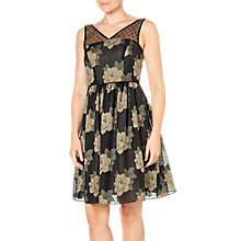 Buy Adrianna Papell Banded Chiffon Dress, Black/Taupe Online at johnlewis.com
