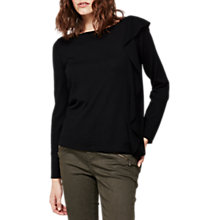 Buy Mint Velvet Ruffle Side Knit, Black Online at johnlewis.com