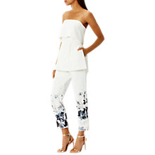 Buy Coast Cherries Printed Trousers, White/Multi Online at johnlewis.com