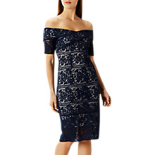 Buy Coast Caldera Lace Shift Dress, Navy Online at johnlewis.com