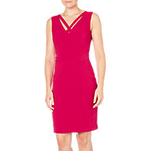 Buy Adrianna Papell Cut Out Neckline Sheath Dress, Strawberry Online at johnlewis.com
