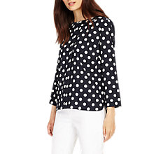 Buy Phase Eight Marilyn Spot Blouse, Navy/Ivory Online at johnlewis.com