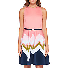 Buy Ted Baker Mississippi Dress, Coral/ Multi Online at johnlewis.com
