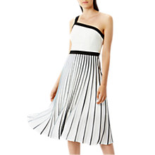 Buy Coast Char-Marie Pleated Dress, Black/White Online at johnlewis.com