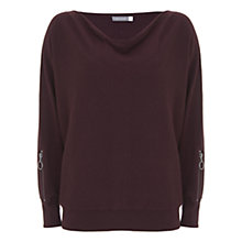 Buy Mint Velvet Bordeaux Zip Sleeve Jumper, Dark Red Online at johnlewis.com