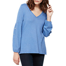 Buy Mint Velvet Balloon Sleeve Knit, Light Blue Online at johnlewis.com