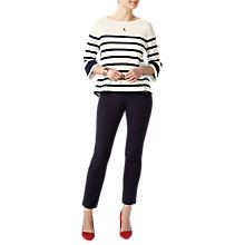 Buy Pure Collection Milano Cotton Sweater, Ivory/Navy Online at johnlewis.com