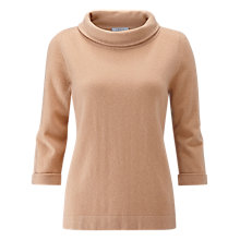 Buy Pure Collection Cashmere Bardot Sweater, Gingerbread Online at johnlewis.com
