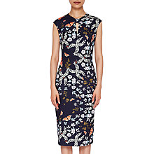 Buy Ted Baker Kairra Kyoto Garden Dress, Mid Blue/Multi Online at johnlewis.com