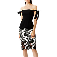 Buy Coast Naz Tie Peplum Top, Black Online at johnlewis.com