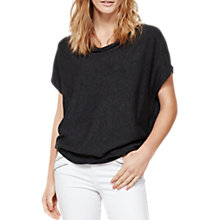 Buy Mint Velvet Short Sleeve Batwing Jumper, Charcoal Online at johnlewis.com