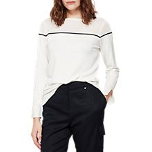 Buy Mint Velvet Crew Neck Knit, Stripe Online at johnlewis.com