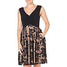 Buy Adrianna Papell Portrait Fit And Flare Dress, Strawberry Online at johnlewis.com