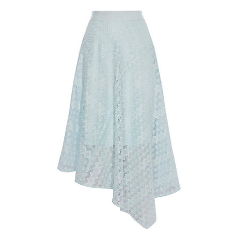 Buy Coast Zoe Lace Skirt, Pale Blue Online at johnlewis.com