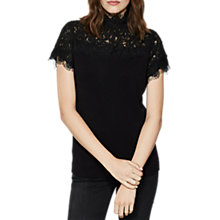 Buy Mint Velvet Victoriana Knit Jumper, Black Online at johnlewis.com