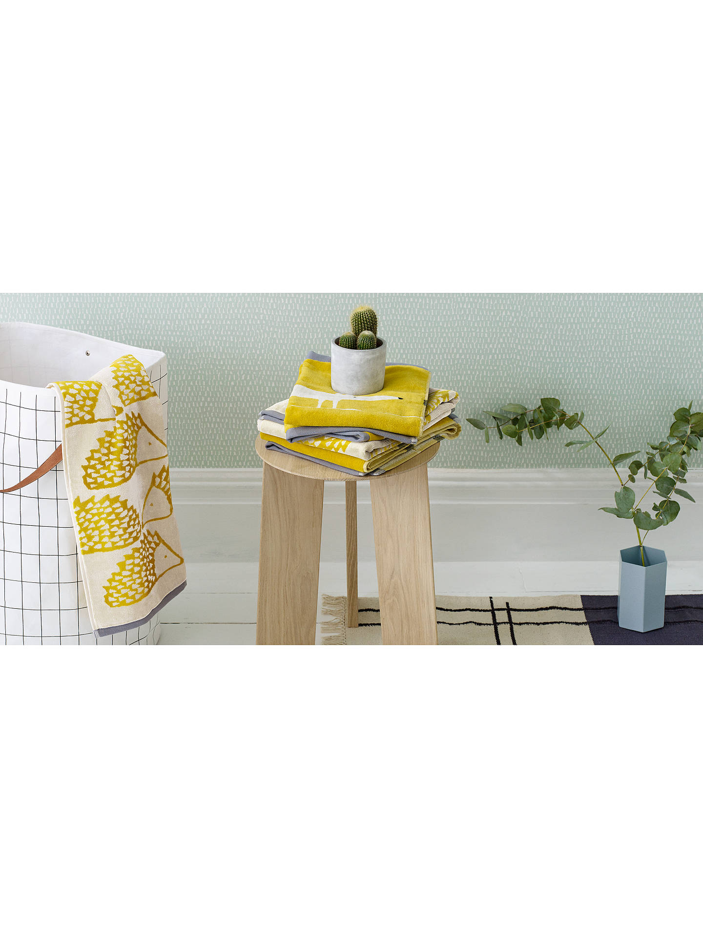 Buy Scion Spike Guest Towel, Mustard Online at johnlewis.com